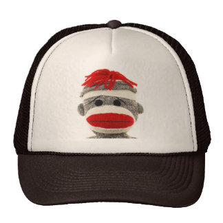 Sock Monkey Funny Hat- Are you looking at me!