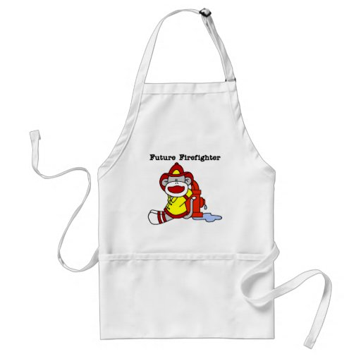 Sock Monkey Future Firefighter Tshirts and Gifts Aprons