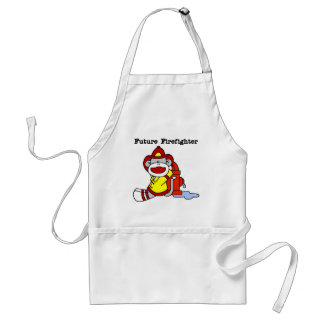 Sock Monkey Future Firefighter Tshirts and Gifts Standard Apron