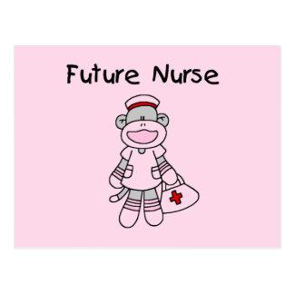 Sock  Monkey Future Nurse T-shirts and Gifts Postcard