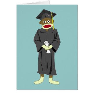 Sock Monkey Graduation Greeting Card
