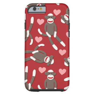 Sock Monkey Hearts Tough iPhone 6 Case