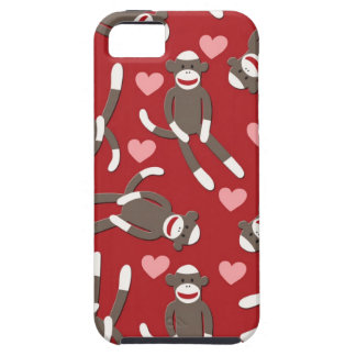 Sock Monkey Hearts iPhone 5 Cases