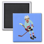 Sock Monkey Hockey Player