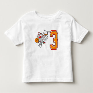 Sock Monkey Hoops 3rd Birthday Toddler T-shirt