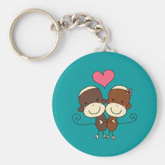 Sock Monkey Hugz Keychain