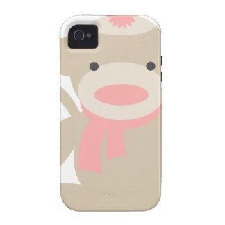 Sock Monkey in Pink iPhone 4/4S Case