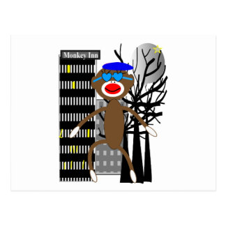 Sock Monkey INN HOTEL T-shirts and Gifts Postcard