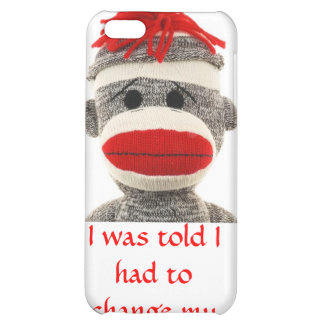 SOCK MONKEY  COVER FOR iPhone 5C