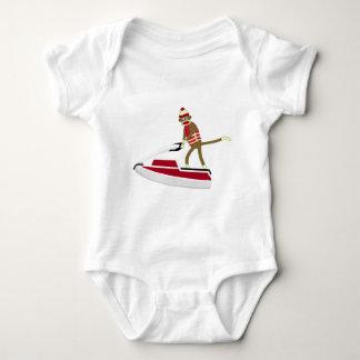 Sock Monkey Jetski Baby Bodysuit