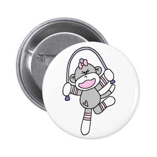 Sock Monkey Jumping Rope Pins
