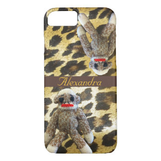 Sock Monkey Leopard Print iPhone 7 Case