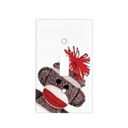 Sock Monkey Light Switch Plate Cover