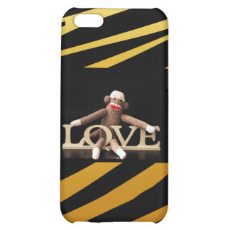 Sock Monkey LOVE Fitted for  iPhone 5C Case