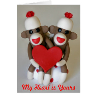 Sock Monkey Lovers Card