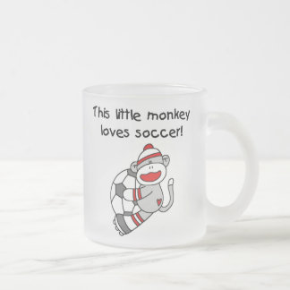Sock Monkey Loves Soccer T shirts and Gifts Mugs