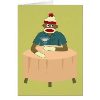 Sock Monkey Martini Nightclub Card