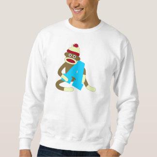 Sock Monkey Monogram Boy A Sweatshirt