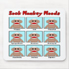 Sock Monkey Moods Mousepad