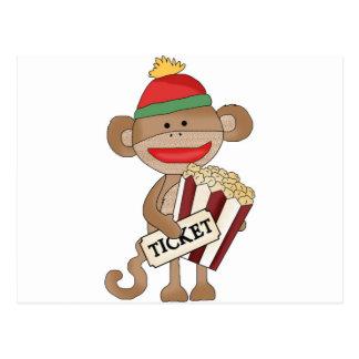 Sock Monkey-Movie night Postcard