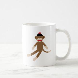 sock monkey coffee mug
