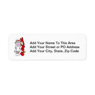 Sock Monkey Nurse T-shirts and Gifts Return Address Label