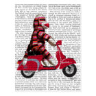 Sock Monkey on Moped Postcard