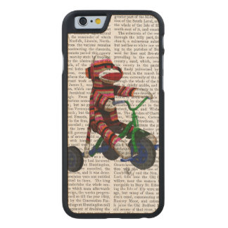 Sock Monkey on Tricycle Carved® Maple iPhone 6 Slim Case