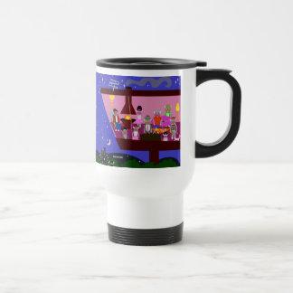 Sock Monkey Party Deluxe Mug Stainless Steel Travel Mug