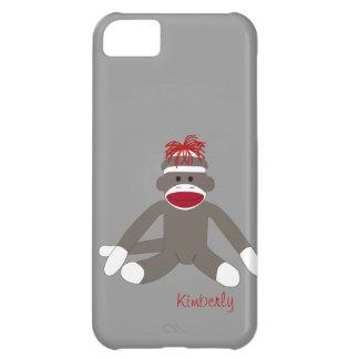 Sock Monkey Personalized iPhone 5 iPhone 5C Case