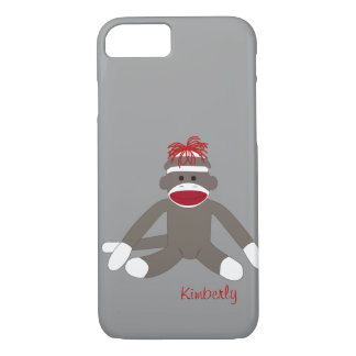 Sock Monkey Personalized iPhone 5 iPhone 7 Case