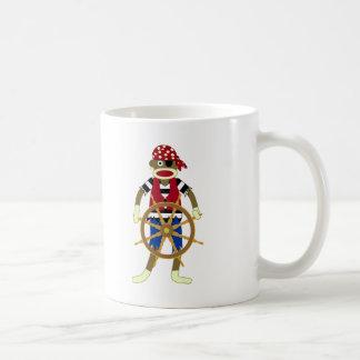 Sock Monkey Pirate Classic White Coffee Mug