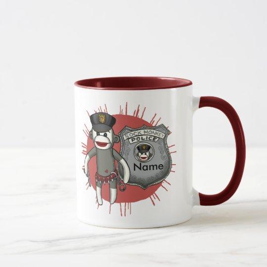 Sock Monkey Police Mug