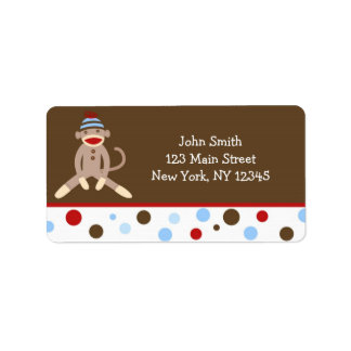 Sock Monkey Return Address Labels