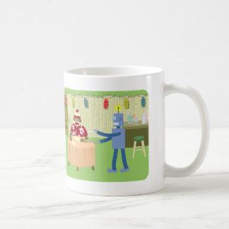 Sock Monkey Robot Waiter Classic White Coffee Mug