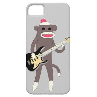 Sock Monkey Rocks w/ Electric Guitar iPhone 5 Covers