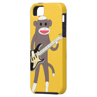 Sock Monkey Rocks w/ Electric Guitar - Iphone 5 iPhone 5 Covers