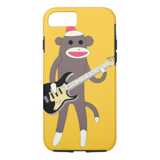 Sock Monkey Rocks w/ Electric Guitar - iPhone 7 ca iPhone 7 Case