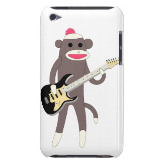 Sock Monkey Rocks w/ Electric Guitar - Ipod Touch Barely There iPod Case