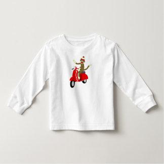 Sock Monkey Scooter T-shirts