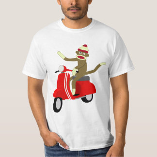 Sock Monkey Scooter Tee Shirts