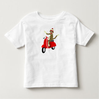 Sock Monkey Scooter Toddler T-shirt