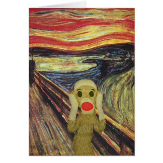Sock Monkey Scream card
