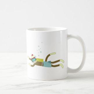 Sock Monkey Scuba Diver Basic White Mug