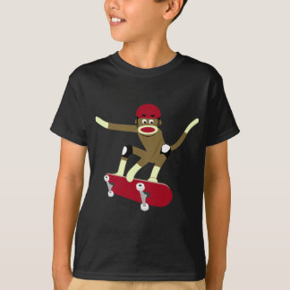 Sock Monkey Skateboarder T-Shirt