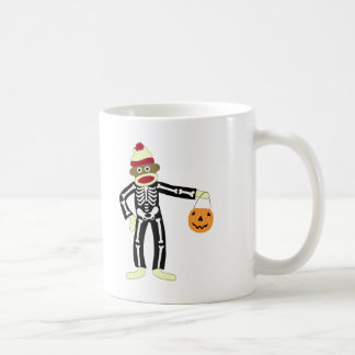 Sock Monkey Skeleton Halloween Coffee Mug