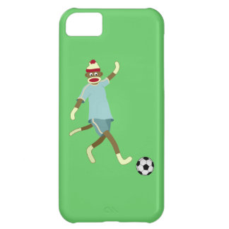 Sock Monkey Soccer Player iPhone 5C Cases