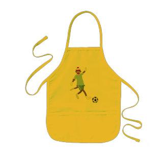 Sock Monkey Soccer Player Kids Apron