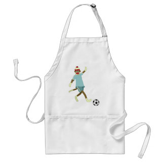 Sock Monkey Soccer Player Standard Apron