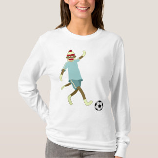 Sock Monkey Soccer Player T-Shirt